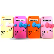 Гумен гръб Hello Kitty iPhone 4 / 4s, розов