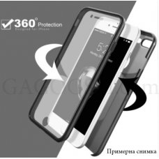 360° CASE PVC ГРЪБ + PVC РАМКА С ПРОТЕКТОР ЗА Samsung Galaxy Note 8 - ЧЕРЕН