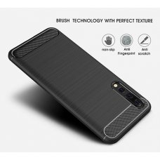 Carbon Fiber TPU Motorola One (P30 Play) - Черен (R64/B3)