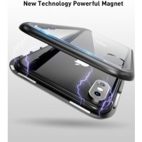 360 Magnetic Tempered Glass Back iphone X/10 - Златна рамка