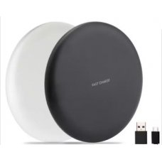 Безжично зарядно Wireless Fast Charger iPhone, Samsung, Huawei и др. - Бял