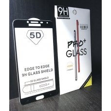 5D Full Glue 9H Pro+ Tempered Glass Samsung Galaxy A6 Plus (2018)/ J8 цял екран - Черна рамка  (R5/G10/i4)