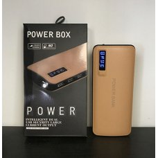 Външна батерия Power Bank, 20.000 mAh, High Speed, 3 USB порта,LED Фенер, Дисплей - Кафяв