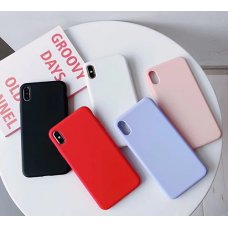 The silicone case iPhone 8 - Син