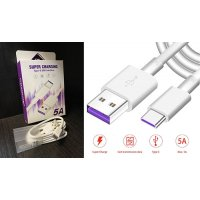 Кабел 5A SuperCharge USB Type-C - Бял (S53-A4)