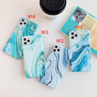 Marble Blue Silicone Case iPhone 12 Pro Max №4 (S14-C1)