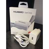 Зарядно Huawei CP84 SuperCharge с Type-C кабел - Бял (S54-A2)