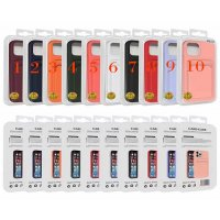 Silicone case, wallet card iPhone 12 / 12 Pro / №10 (M3)