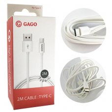 GAGO USB TYPE-C кабел 2A 2M Fast Charging / GM - 0530 (R53-G/H/I4)