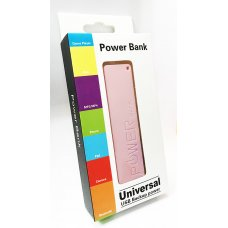 Power bank 2600 mAh РозовPOWER BANK / ВЪНШНА БАТЕРИЯ
