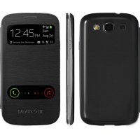 Samsung Galaxy Core (I8260) S-View Cover Черен